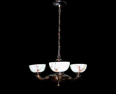 Antique Modern Functionalism Chandelier Ceiling Lamp Lighting Fixture 1930s