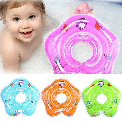 US Inflatable Float Ring Baby Infant Swimming Neck Safety Bath Swimming Beach