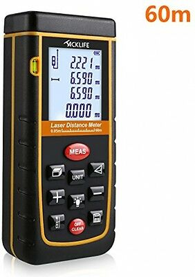 Tacklife Handheld Laser Distance Meter (Measuring Up To 60m) Laser Measure With