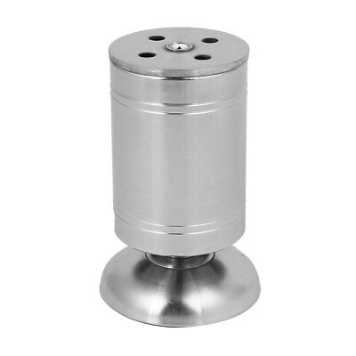 100mm Height Stainless Steel Round Base Adjustable Cabinet Leg Feet Silver Tone