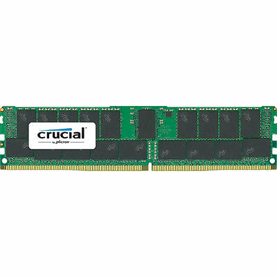 Crucial 64GB PC4-2400 DR x4 Registered ECC DIMM (2x 32GB) for Server