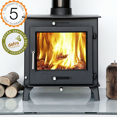 DEFRA 12kw OTTAWA + CLEAN BURN Contemporary Woodburning Stove Stoves Multi Fuel