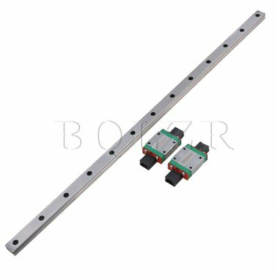 BQLZR 50cm MGN15 Bearing Steel Linear Sliding Guide Rails & Block Silver set