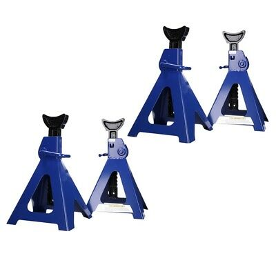 SET 4x HEAVY DUTY ADJUSTABLE SEALEY FOLDING AXLE SUPPORTS 6 TONNE PER STAND