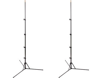 Phot-R 2x 2.1m Compact Ultra Portable Travel Reverse Folding Light Stand Kit x2
