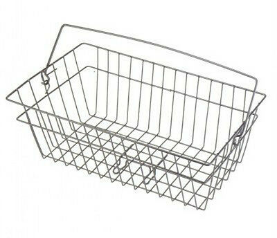 Wire Bike Shopping School Basket  With Handle NO Straps Black New