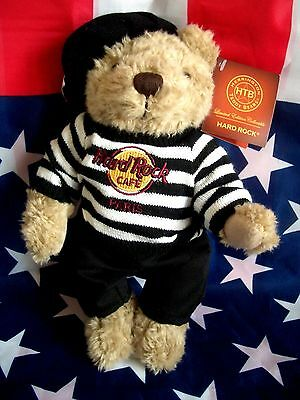 HRC Hard Rock Cafe Paris Beret Teddy Bear Bär 10`` Herrington LE