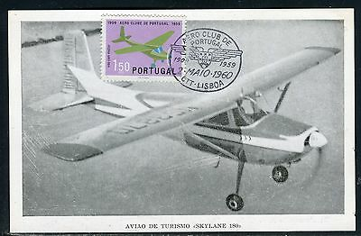 Portugal - Carte maximum - Avion en 1960