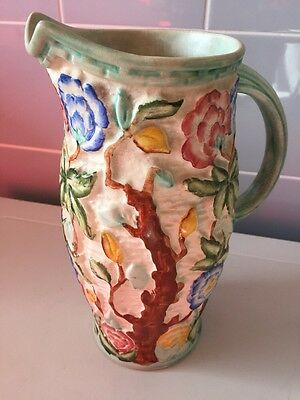 Vintage Staffordshire hand painted Indian Tree/jug/vase Pitcher by H J Wood