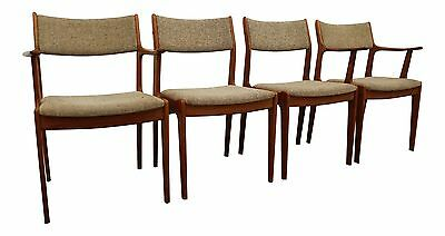 Set of 4 Mid-Century Danish Modern Teak Dining Chairs #4