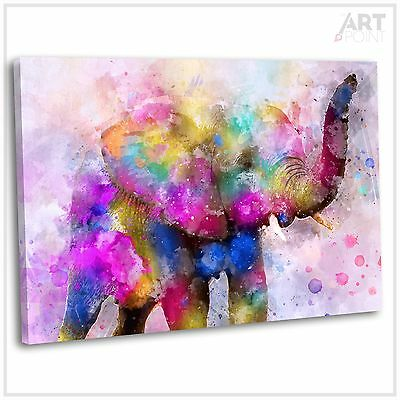 Abstract Elephant Canvas Print Framed Animal Wall Art Picture
