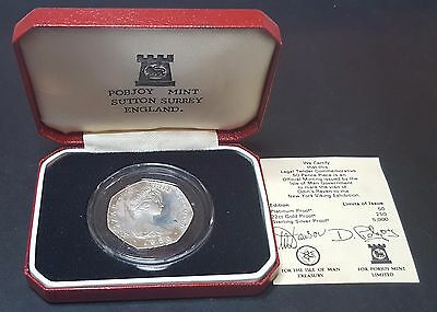 1980 Odin's Ravens Visit to New York Viking Exhibition 50 Pence Coin (B5)