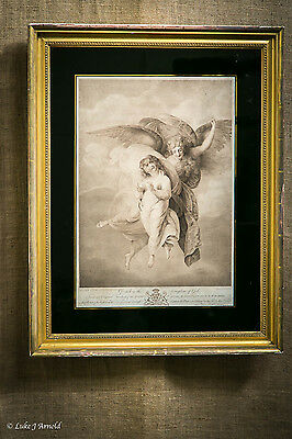 19th Century Print of an Angel