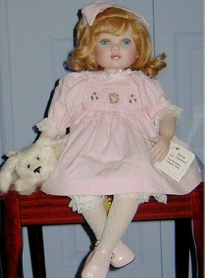 "MARIE OSMOND ""Puppy Love"" 20"" Porcelain Doll! NEW IN BOX"