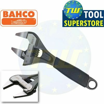 "Bahco 6"" Adjustable Spanner 150mm Wrench - EXTRA WIDE 32mm Slim Jaw ERGO 9029-T"
