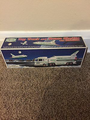 New in Box 1999 Hess Truck Toy Truck and Space Shuttle with Satellite