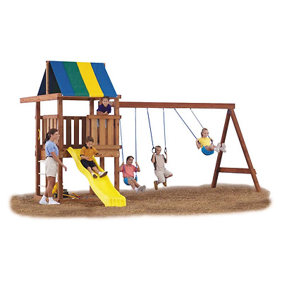 Swing Sets For Backyard Hardware Kit Diy Playset Kits Outdoor Toys Swingset New