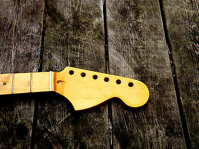 Fatboy Canadian Vintage Amber Cbs Greco Headstock Strat Shred Neck Steel Frets