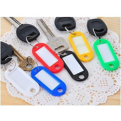 5pcs KEY TAGS Assorted Plastic Rings for ID Tags/Card FOB Label Car Identity C3