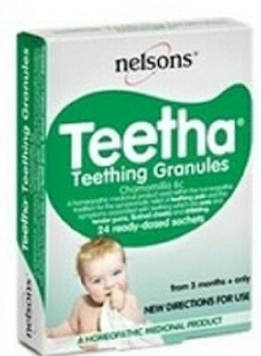 Nelsons Teetha Teething Granules - Soothes and Calms - 24 Ready-dosed Sachets