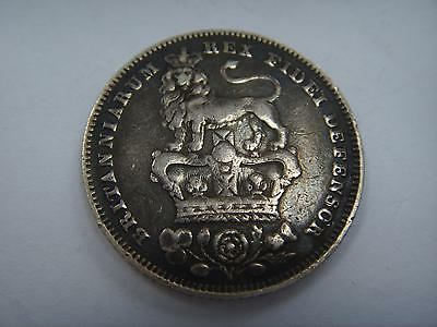 1828 George Iv Silver Sixpence Free P & P 1St Class Recorded