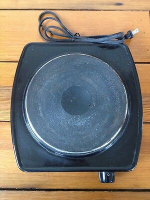 Toastmaster Eclipse Model 6431 Single Burner Electric Hot Plate Portable 1300W
