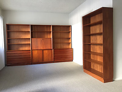Mid-Century Modern, Danish Teak Wall Shelf/Drawer Units