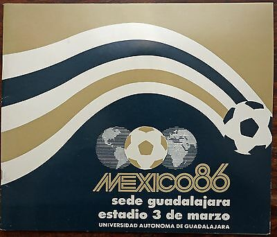 Mexico 1986 World Cup - 3 de Marzo Stadium brochure