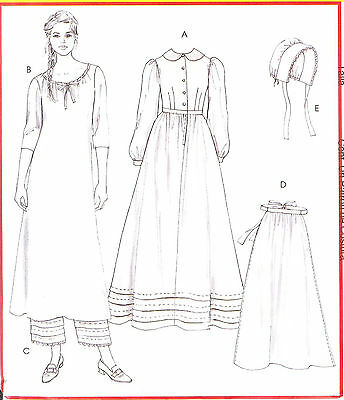 OOP Misses Early American Costume PATTERN Chuck Wagon 10-12-14-16 McCalls 4548