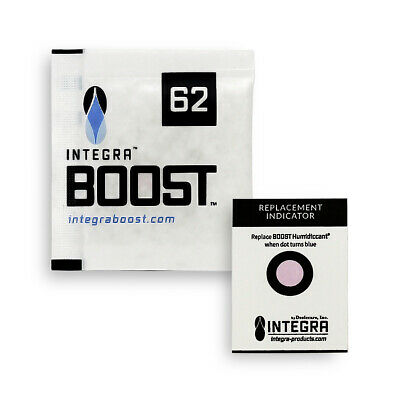 100 Pack Integra Boost RH 62% 8 gram Humidity 2 Way Control Humidor Pack