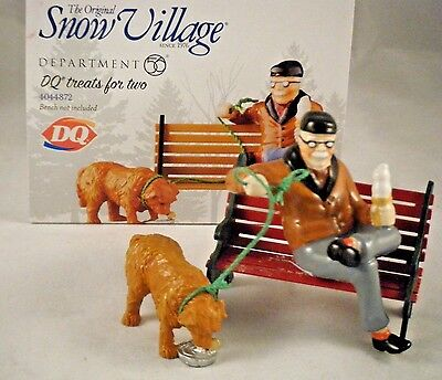 """Department 56 Snow Village """"DQ treats for two.""""   #4044872 NEW"""