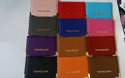 Oyster Card Travel Card Bus Pass Holder Wallet Railcard Cover Case Many Colors S