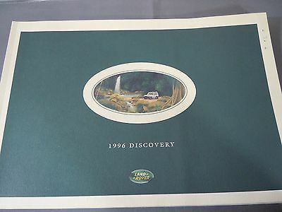 1996 Land Rover Discovery Catalog Sales Brochure Original w/Product Line Booklet