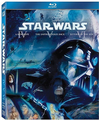 Star Wars Original Trilogy Episodes 4 5 6 IV-VI Blu ray Complete Collection New