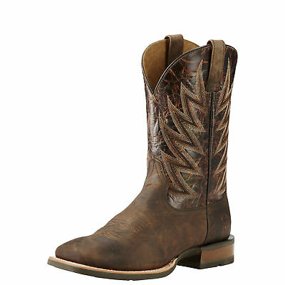 """Ariat 10018695 Challenger 11"""" Branding Iron Wide Square Toe Riding Boots"""