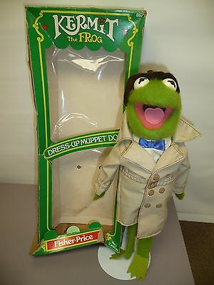 1981 Fisher Price Dress Up Muppet Doll KERMIT the Frog w/ Box