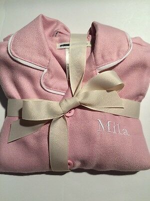 Pottery Barn Kids Solid Flannel Pajama Set Pink Size 3T NWOT Mila