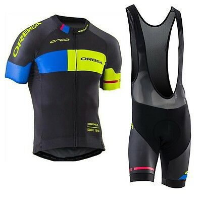 Ropa ciclismo 2017 manga corta Orbea maillot culot cycling jersey maglie short
