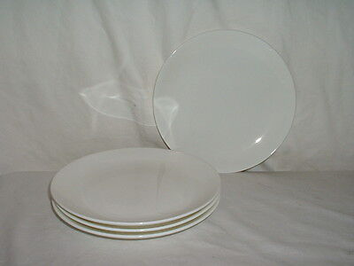"""4 Wedgwood Inspiration White 6 1/2"""" Bread & Butter Plates"""