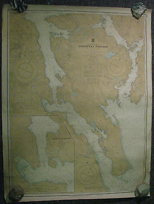 Nautical Chart Canada BC Discovery Passage 1953 #3565