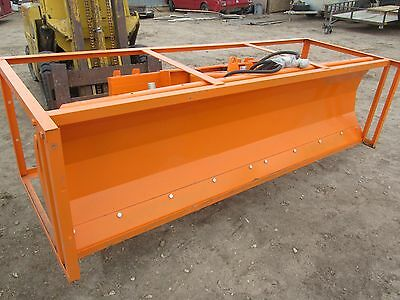 """New 86"""" Hydraulic Angle Skid Steer Loader Dozer Snow Plow Blade 86 Inch"""