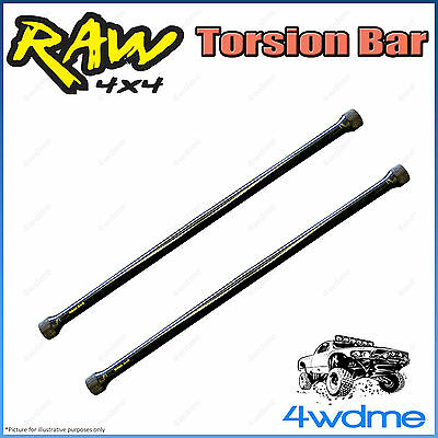 "Mitsubishi Challenger PA2 RAW Front Torsion Bars Increased Rate 2"" 0-40mm Lift"