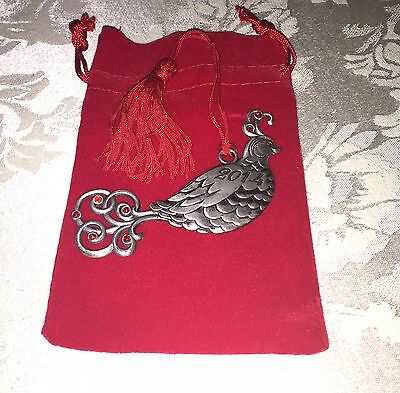 *NEW IN BOX* AVON 2014 Pewter Partridge Christmas Ornament