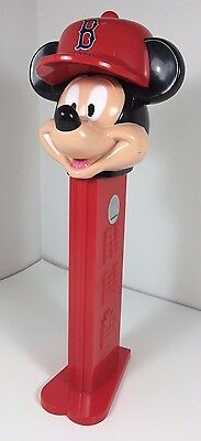 """Boston Red Sox Mickey Mouse Large 12"""" Pez Dispenser, Disney MLB Collectible"""