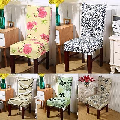 2Pcs Removable Elastic Stretch Slipcovers Dining Room Chair Seat Cover Décor New