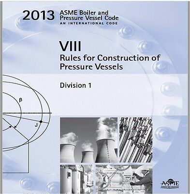 2013 ASME Boiler and Pressure Vessel Code Section VIII (8) Division 1 on USB