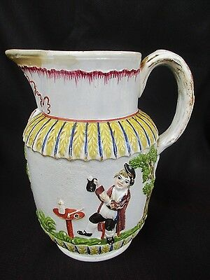 Antique Staffordshire  Pratt Ware Jug /Cream ware Jug ,c-1800-1830,s