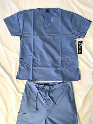 Men's Women's Medical Nursing Doctor Uniform Scrub Set Shirt & Pant Size Medium