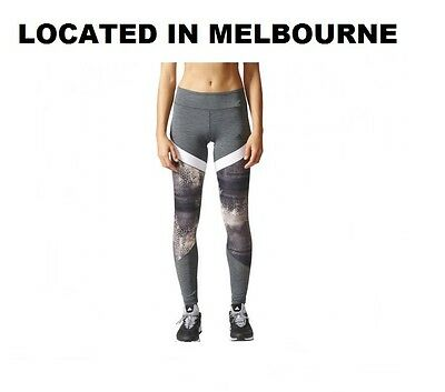New Womens Adidas Workout Climalite Compression Gym Full Length Tights Rrp $100