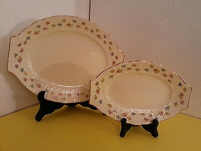 "Vintage Homer Laughlin 11.5"" & 9"" Oval Serving Platter Coronet USA"